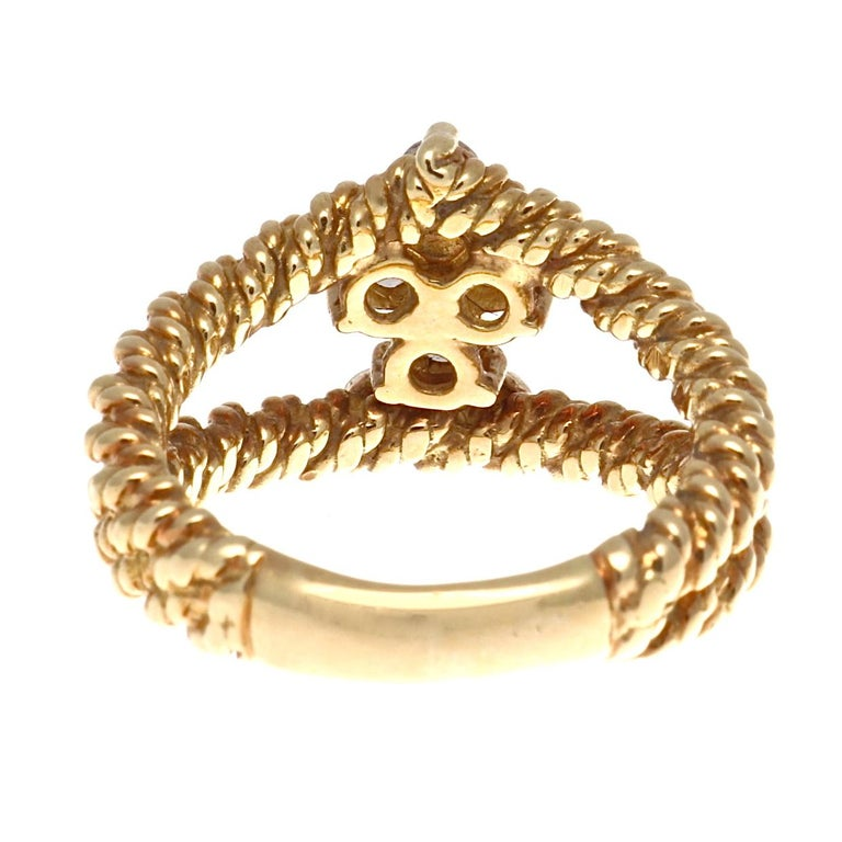Women's Boucheron Diamond Gold Ring For Sale