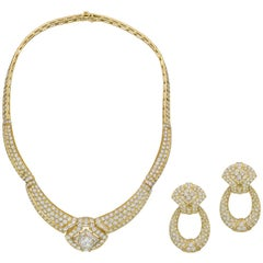 Boucheron Diamond Necklace and Earrings Set