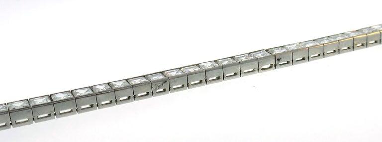 Boucheron Diamond Platinum Tennis Line Bracelet, 1950s For Sale 1