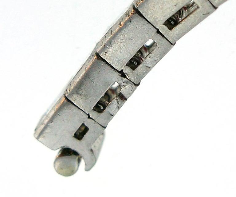 Boucheron Diamond Platinum Tennis Line Bracelet, 1950s For Sale 4