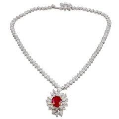Boucheron Diamond & Ruby Necklace