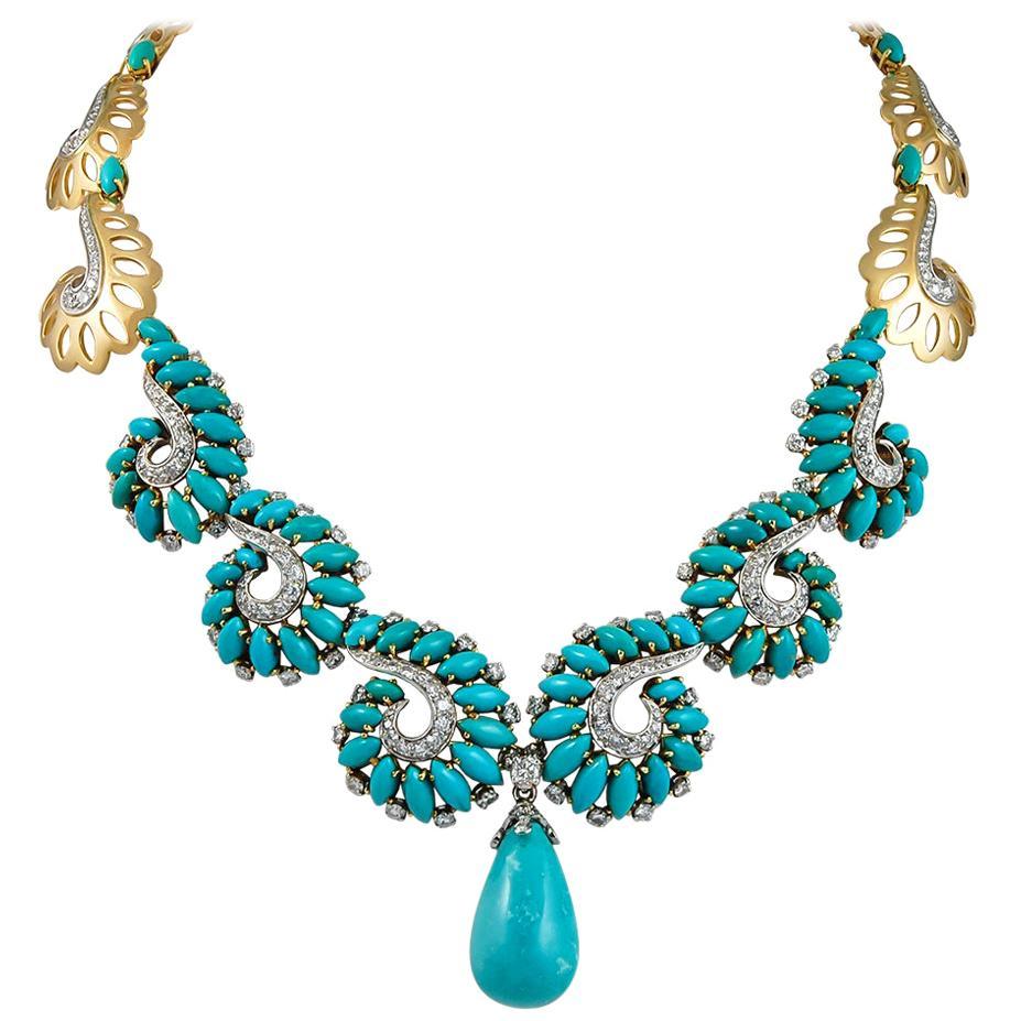 Boucheron Diamond Turquoise Necklace