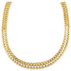 Boucheron Diamond Yellow Gold Choker Necklace