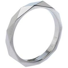 Boucheron Facette Platinum Wedding Band Ring Size 56