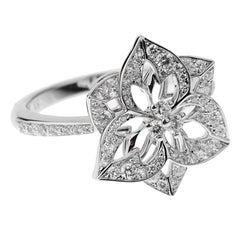 Boucheron Flower Diamond White Gold Cocktail Ring