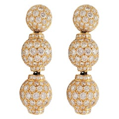 Boucheron Gold and Diamond Three-Station Drop Earrings