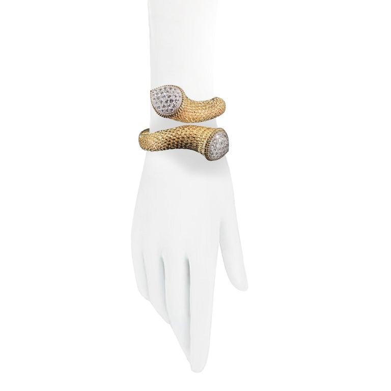 Boucheron Gold Bracelet with Diamond Set Terminals For Sale 1