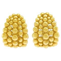 "Boucheron Gold Earrings ""Grains de Raisins"""