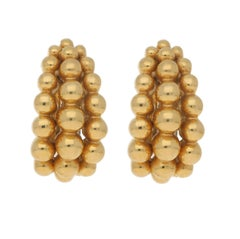 Boucheron 'Grains de Raisin' Bubble Earrings Set in 18k Yellow Gold