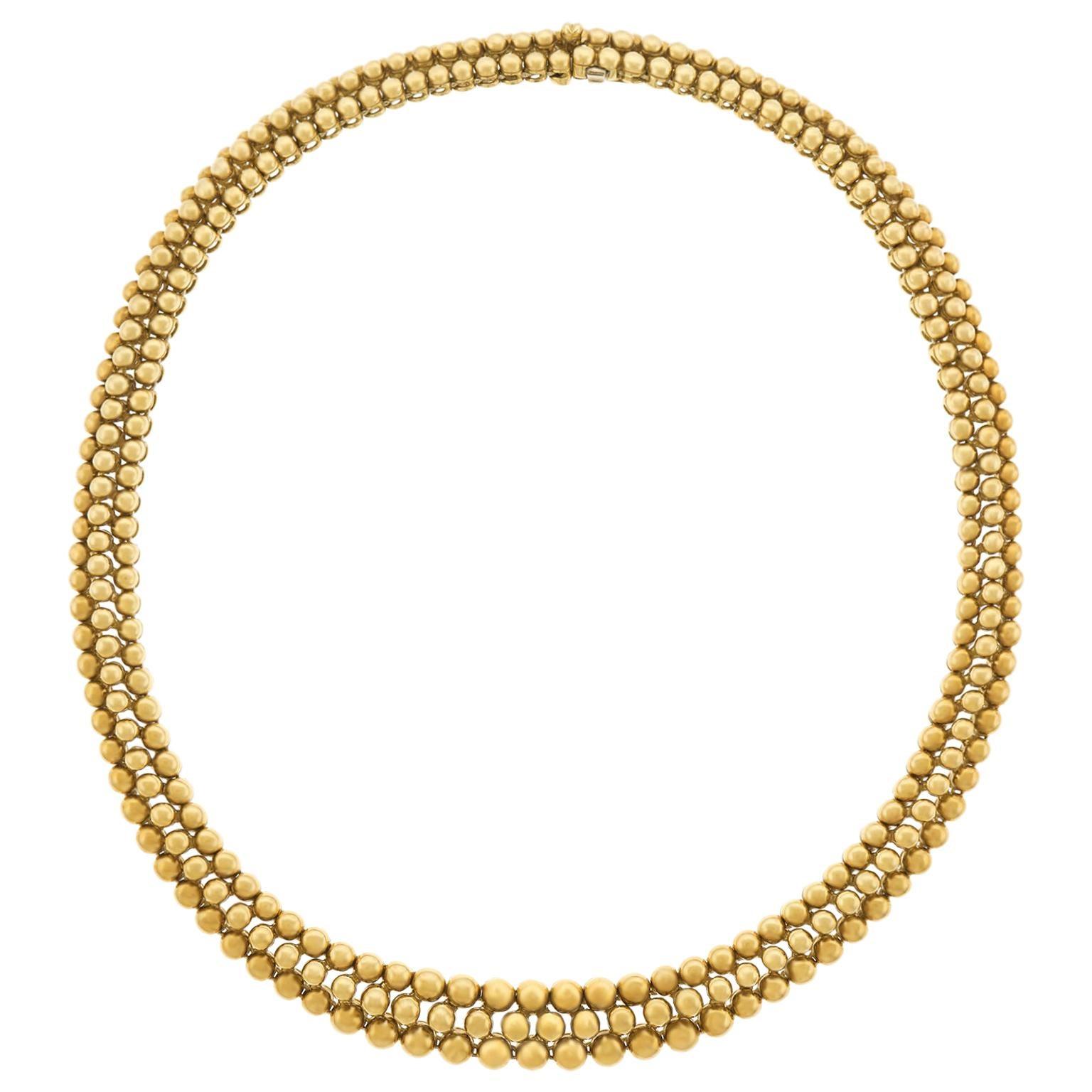 """Boucheron """"Grains de Raisins"""" Gold Necklace"""