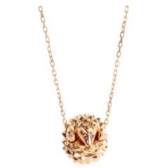Boucheron Hans The Hedgehog Diamond & Ruby Pendant in 18K Pink Gold 0.01 CTW