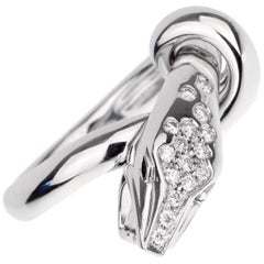 Boucheron Kaa White Gold Diamond Snake Ring
