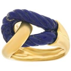 Boucheron Lapis and Gold Fashion Ring