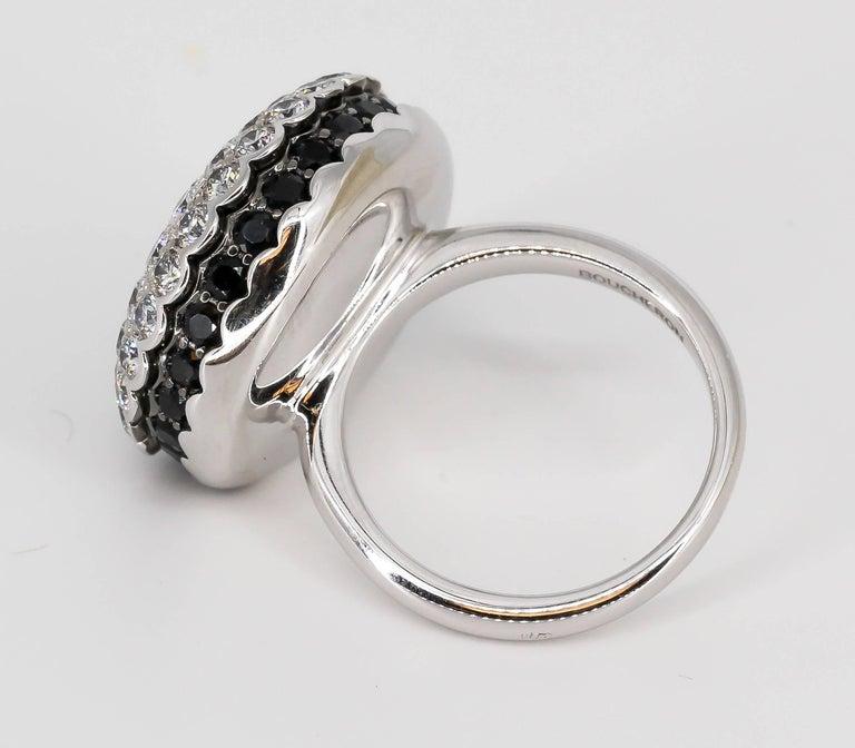 Boucheron Macaron Black White Diamonds Ring For Sale 1
