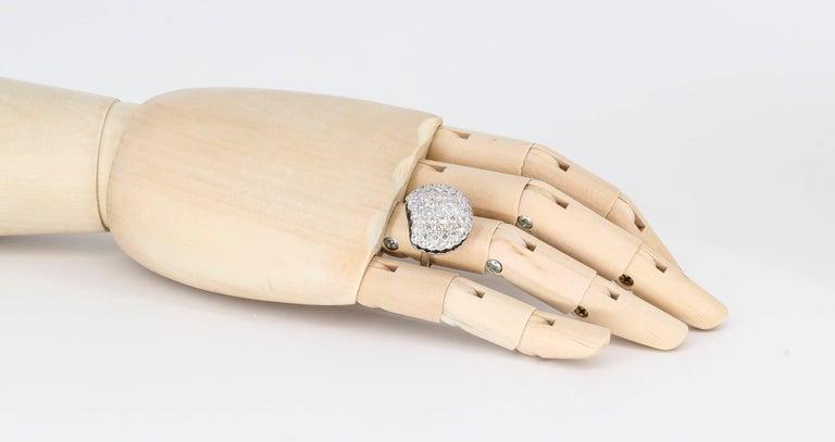 Boucheron Macaron Black White Diamonds Ring For Sale 2
