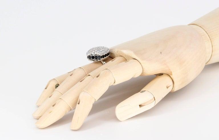 Boucheron Macaron Black White Diamonds Ring For Sale 3
