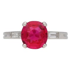 Boucheron Natural Burma Ruby Diamond Ring