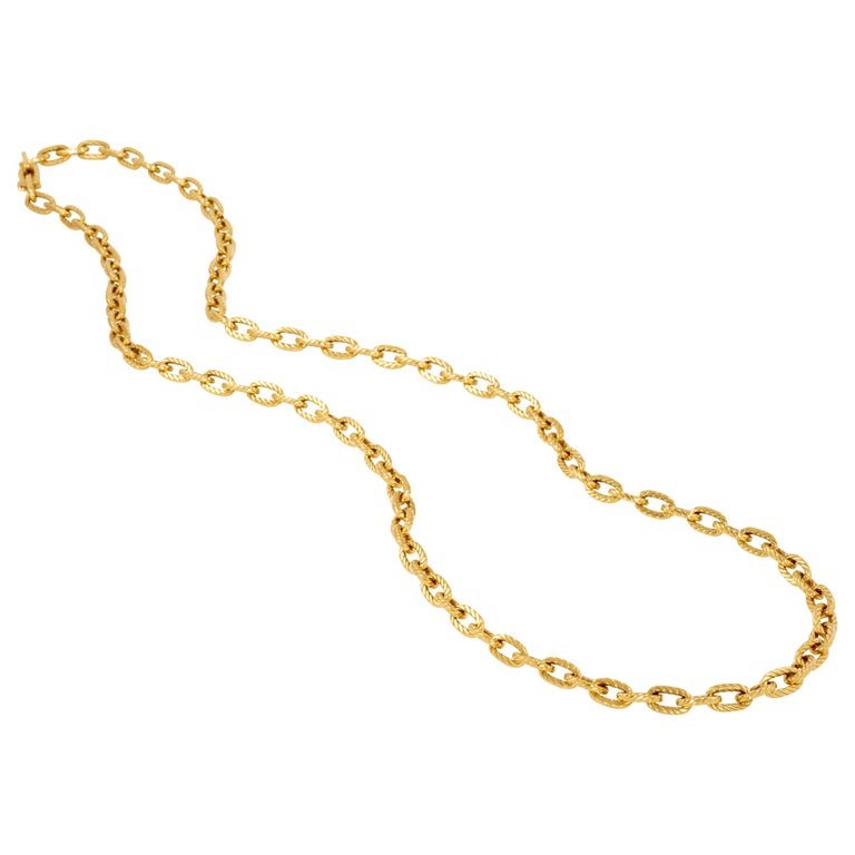 Boucheron, Paris 18K Gold Chain, Ca 1970 For Sale