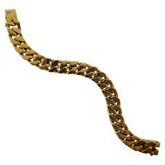 Boucheron Paris 18 karat Gold Curblink Bracelet circa 1970s Vintage and Rare