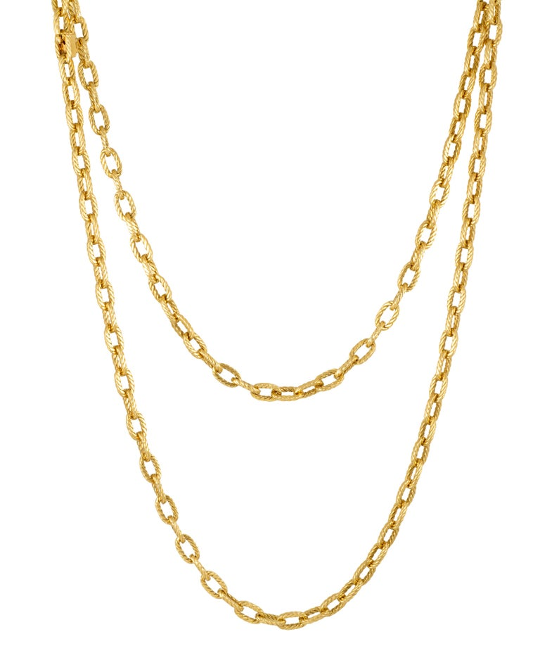 18K Gold Chain by Boucheron, Paris; Ca 1970  Length 35