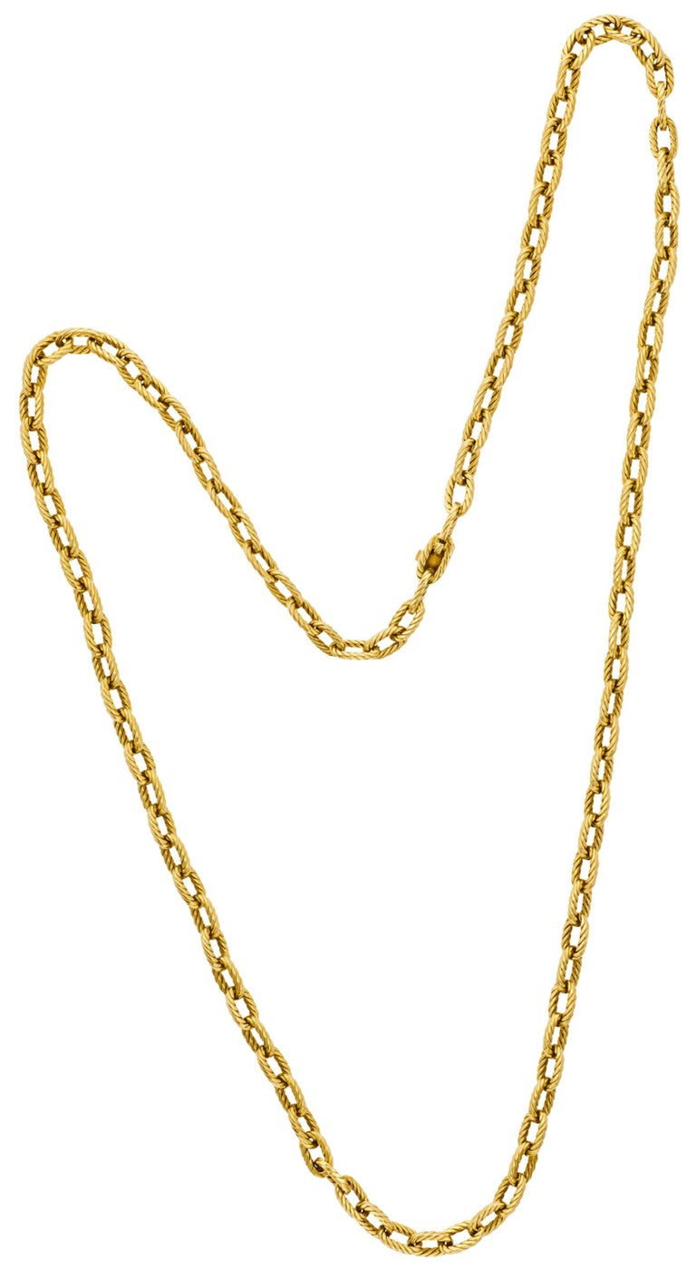 Boucheron, Paris 18K Gold Chain, Ca 1970 In Excellent Condition For Sale In New York, NY