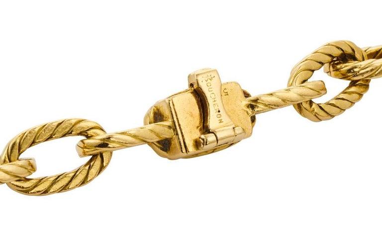 Boucheron, Paris 18K Gold Chain, Ca 1970 For Sale 4