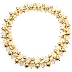 Boucheron Paris 2.2 Carat Diamond Rock Crystal Yellow Gold Necklace