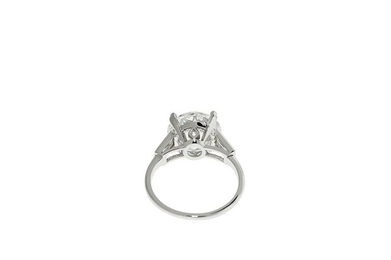 Round Cut Boucheron Paris 4.76 Carat GIA Certified Round Brilliant Engagement Ring