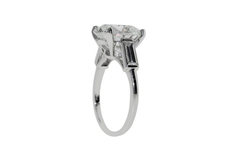 Women's Boucheron Paris 4.76 Carat GIA Certified Round Brilliant Engagement Ring