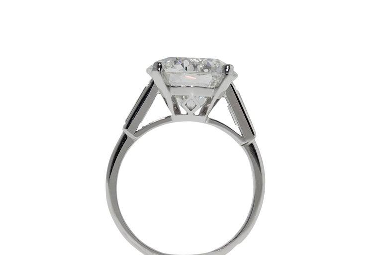 Boucheron Paris 4.76 Carat GIA Certified Round Brilliant Engagement Ring 1