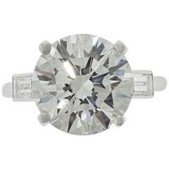 Boucheron Paris 4.76 Carat GIA Certified Round Brilliant Engagement Ring
