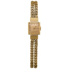 Boucheron Paris Antique Art Deco 18 Karat Gold Watch