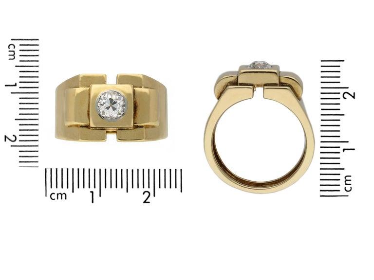 Boucheron Paris Diamond Solitaire Dress Ring, French, circa 1940 For Sale 1