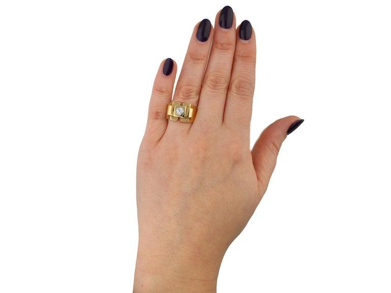 Boucheron Paris Diamond Solitaire Dress Ring, French, circa 1940 For Sale 2