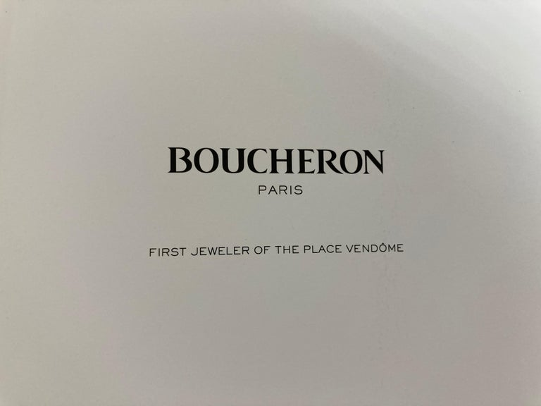 Boucheron Paris First Art Jeweler of the Place Vendome Hardcover Book In Good Condition For Sale In North Hollywood, CA