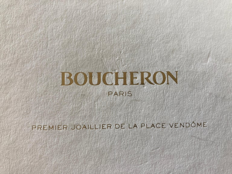 Paper Boucheron Paris First Art Jeweler of the Place Vendome Hardcover Book For Sale