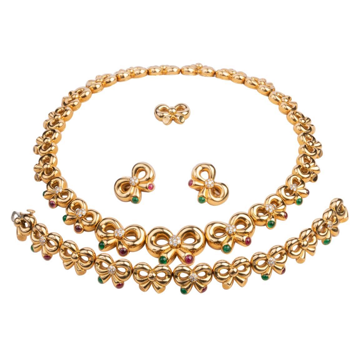 Boucheron Paris Set, Gold and Precious Stones