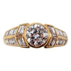 Boucheron Paris Yellow Gold Diamond Ring