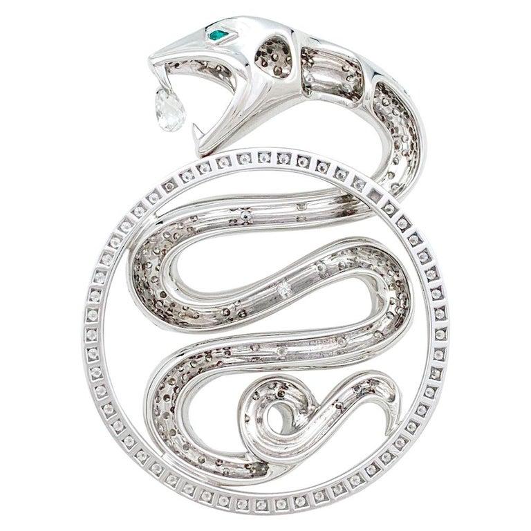 An 18Kt white gold Boucheron pendant,