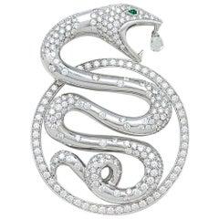 "Boucheron Pendant, ""Trouble"" Collection, Diamonds and Emeralds"
