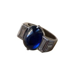 Boucheron Platinum Ring with Sapphire and Diamond
