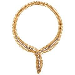 Boucheron Plume De Paon Diamond Feather Necklace
