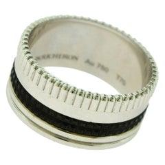 Boucheron Quatre Black Edition Large Ring in 18 Karat White Gold