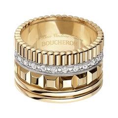 Boucheron Quatre Radiant 18k Rose Gold & White Gold Diamond Ring