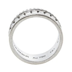 Boucheron Quatre Radiant Edition Diamond 18K White Gold Small Ring Size 51