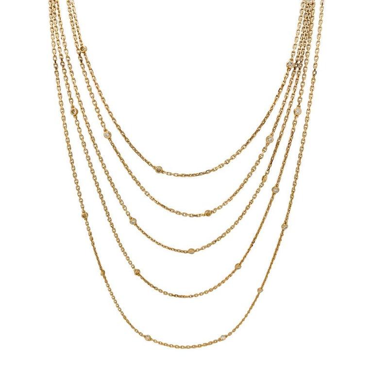 A 18Kt yellow gold Boucheron sautoir necklace,