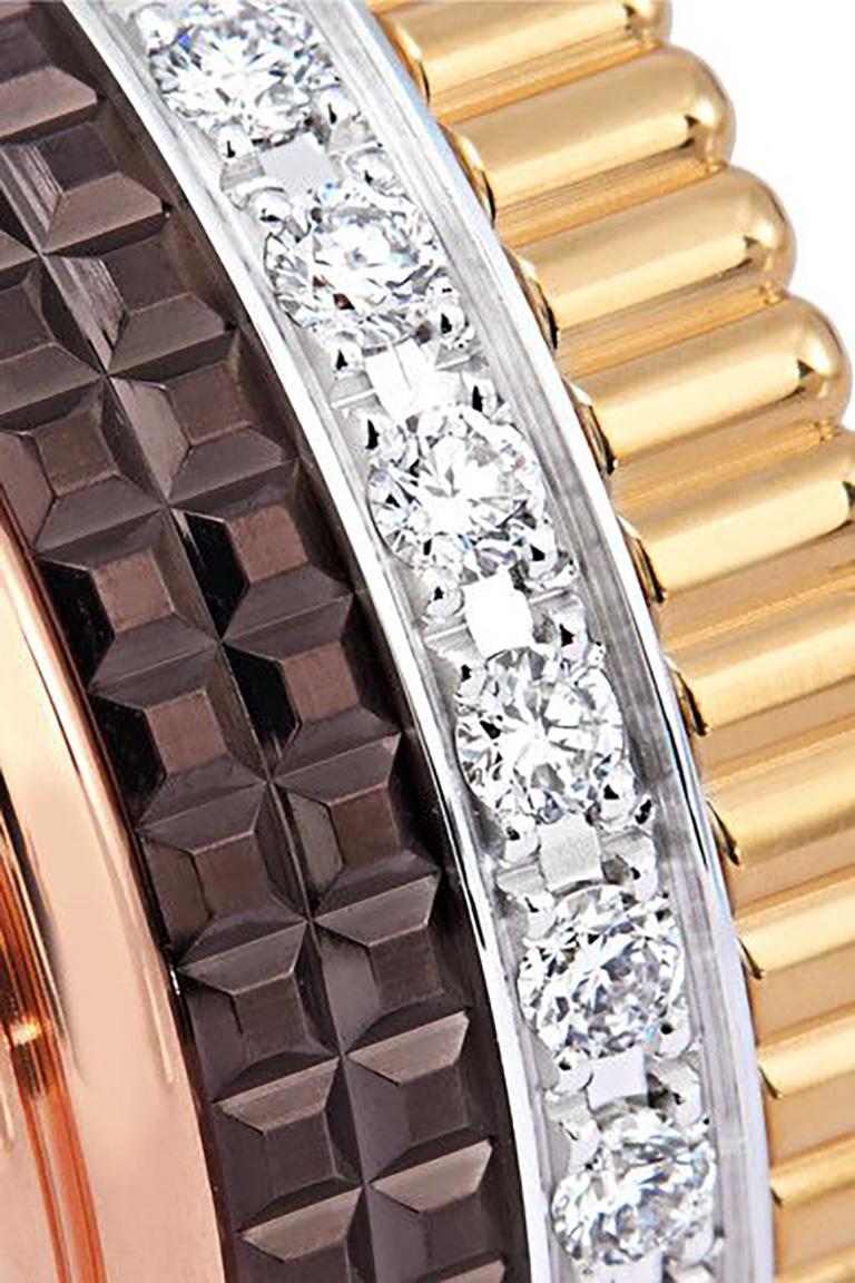 Brilliant Cut Boucheron Quatre Ring Large with Diamonds 18 Karat Gold Band Ring For Sale