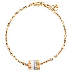 Boucheron Quatre White Edition Ceramic Diamond 18K Three Tone Gold Bracelet