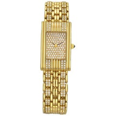 Boucheron Reflet Yellow Gold and Diamond Wristwatch