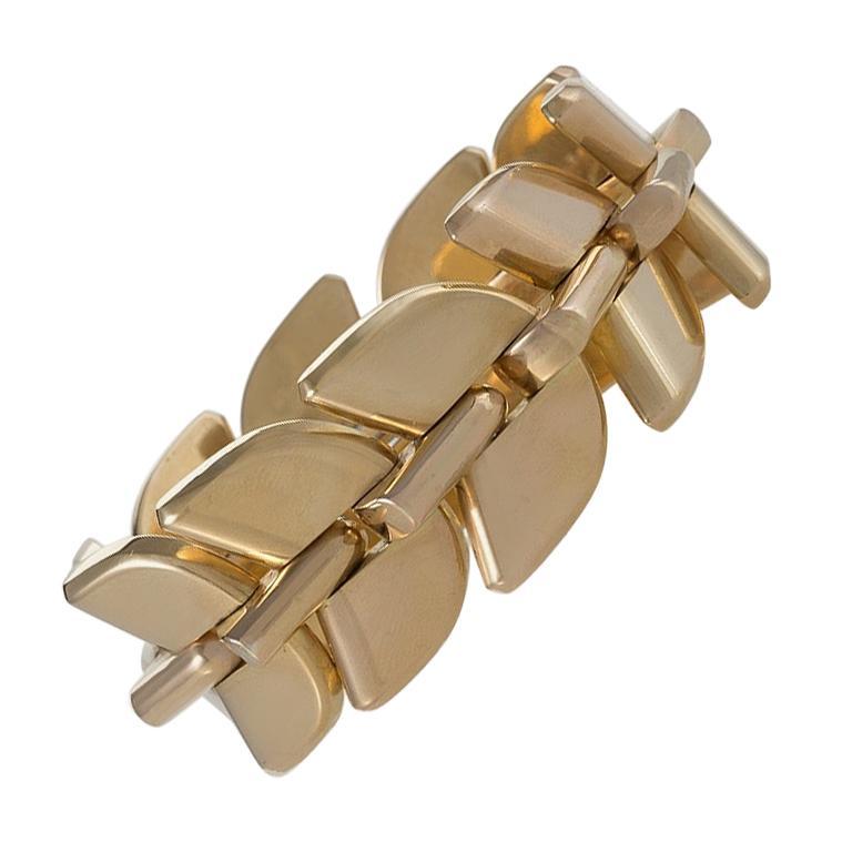 Boucheron Retro Gold 'Epis' Bracelet For Sale